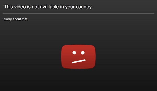 This video is not available in your country error - restricted web content