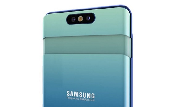 Samsung Galaxy A80 camera popup