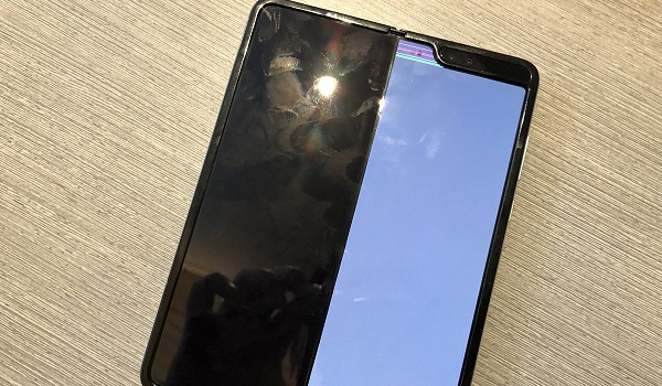 broken Samsung galaxy fold screens