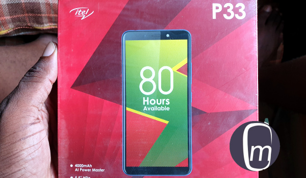 itel p33 unboxing - the box
