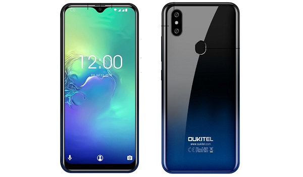 oukitel c15 pro front and back