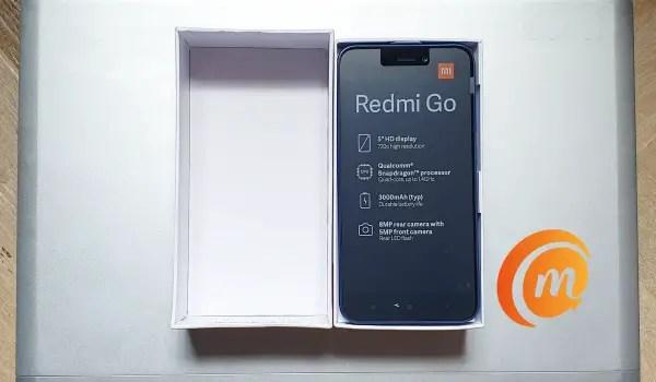 Redmi go box opened