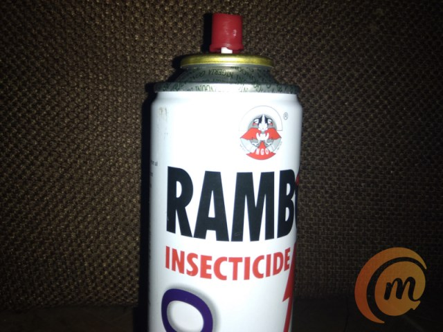 Rambo insecticide + shot on Nokia 3.2 camera with flash