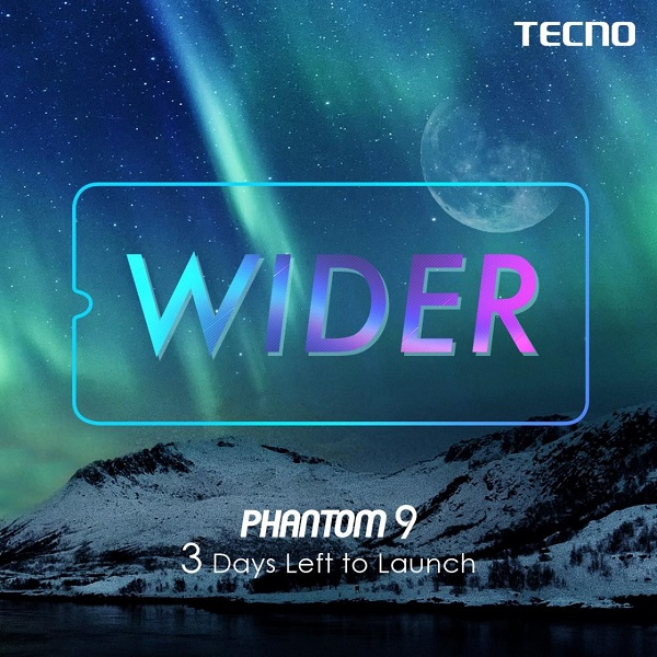 tecno phantom 9 wider 3 days to launch