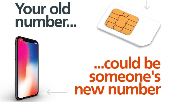 your old mobile number