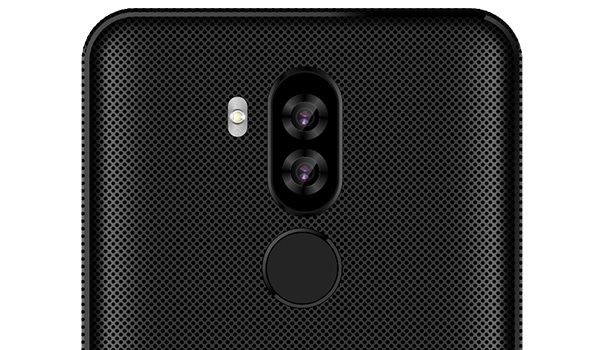 Afrione champion pro rear camera and fingerprint reader
