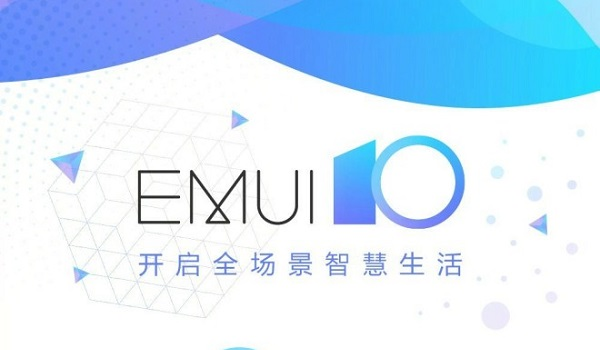 EMUI 10 Android 10 Q white and blue