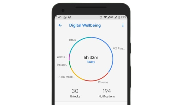 Google Digital Wellbeing app