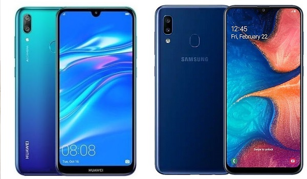 Huawei Y7 Prime 2019 vs Samsung Galaxy A20 comparison review