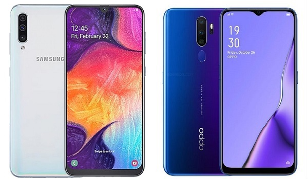 Samsung Galaxy A50 vs OPPO A9 2020