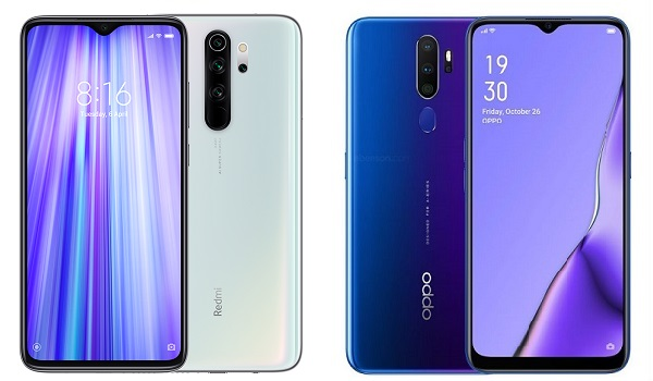 Xiaomi Redmi Note 8 Pro vs OPPO A9 2020 comparison