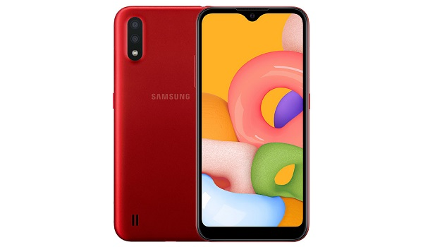 Samsung Galaxy A01 red