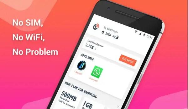 Simo app no SIM no wifi