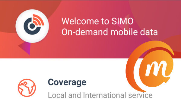 Simo app - use internet without a phone line