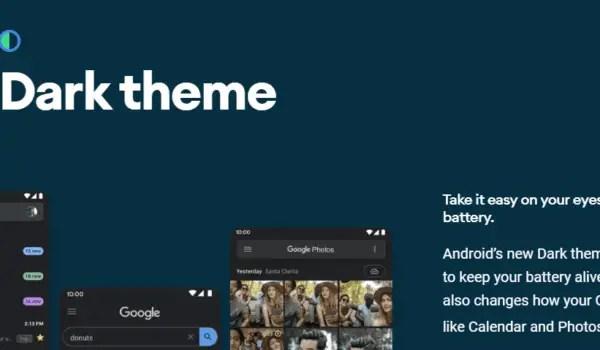 Android 10's Dark Theme