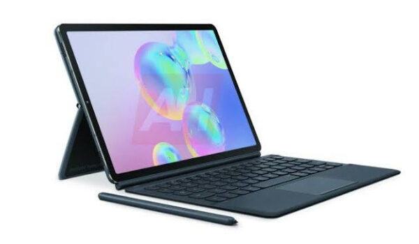Samsung Galaxy Tab S6 5G__with stand and keyboard
