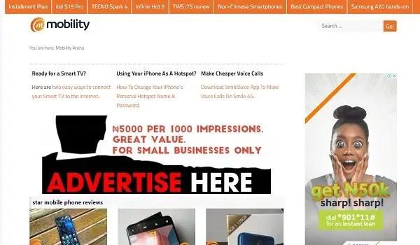 small biz banner location desktop
