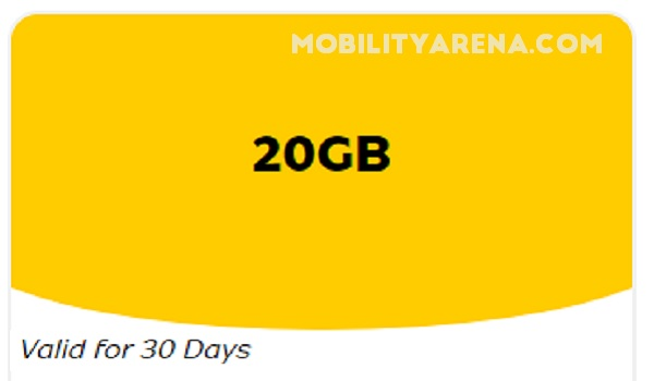 mtn 3500 for 20gb data plan on mobility arena