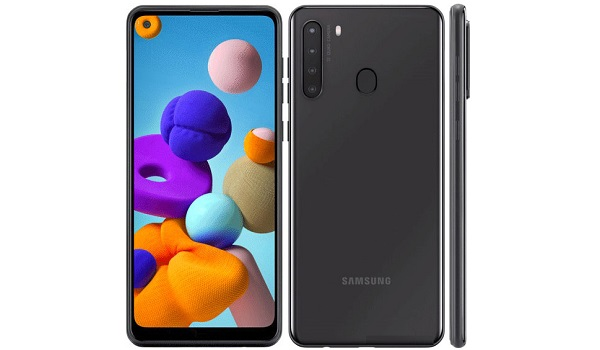 Samsung Galaxy A21 front and back