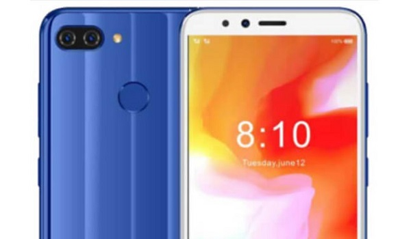 Gionee F6 Pro top blue