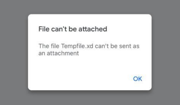certain file types cannot be attached in Gmail for ios