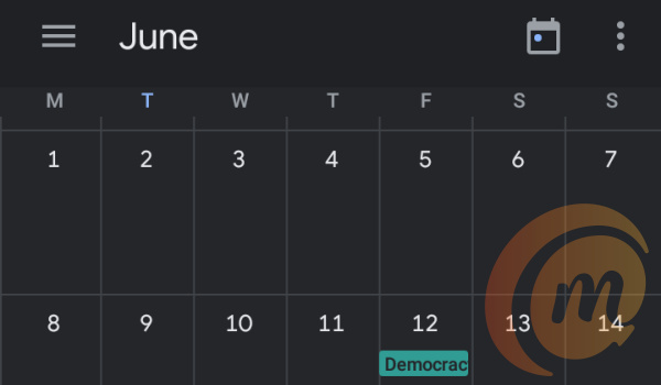 Google calendar dark mode