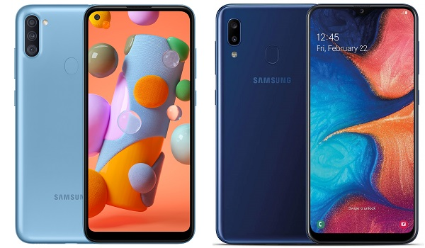 Samsung Galaxy A11 vs A20 comparison