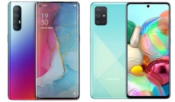 OPPO Reno 3 Pro vs Samsung A71 - Which is better?