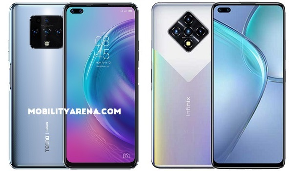 Compare TECNO Camon 16 Premier vs Infinix Zero 8 comparison