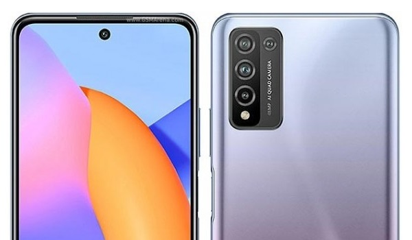 Honor 10X Lite back and front cameras