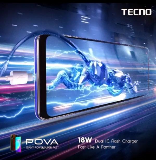 TECNO pova 18w fast charger