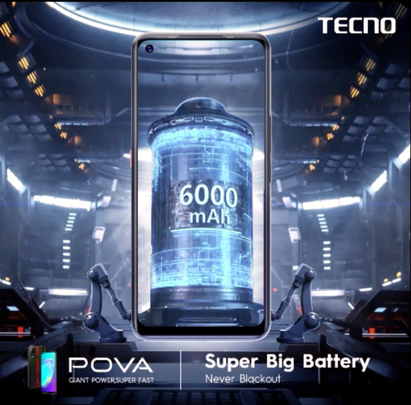 TECNO pova 6000mah battery
