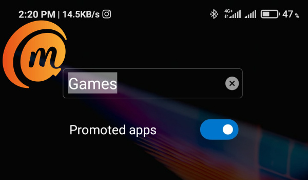 how to remove promoted apps in folders in MIUI 12
