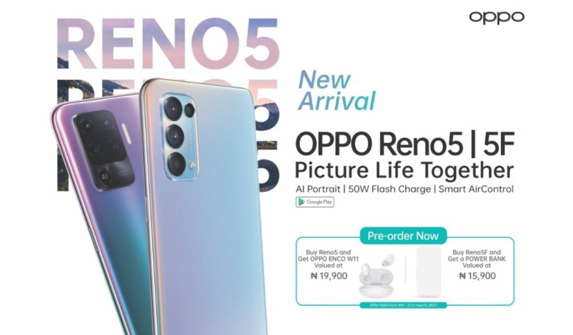 OPPO Reno 5 - 5 F - Picture Life Together new arrival pre-order