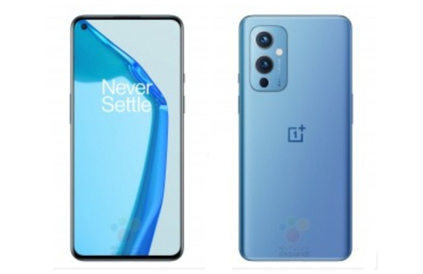 OnePlus 9 front back