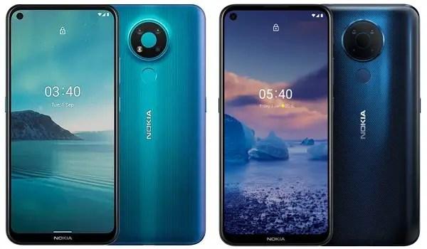 Nokia 3.4 vs Nokia 5.4 front