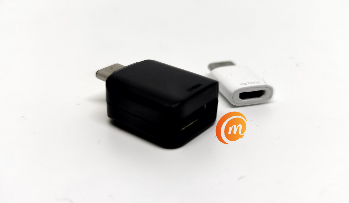 micro USB-C adaptor and USB adapter