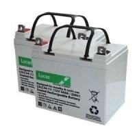 TWO LUCAS 34Ah batteries