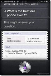 Siri thinks Lumia as the best