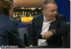 Nokia's CEO Stephen Elop keeps it gangstah