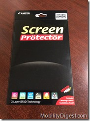 Amzer Kristal Edge2Edge Screen Protector front of package