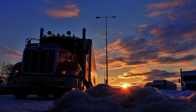 a class 8 truck somewhere in North America