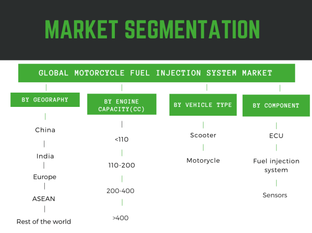 Motorcycle fuel injection system market share detailed by region