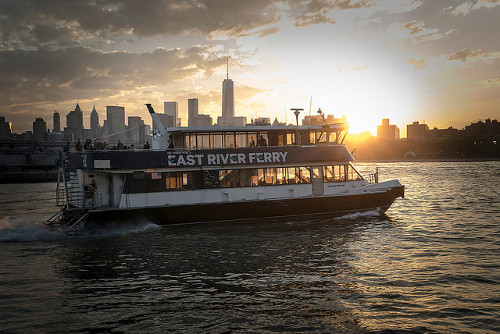 East river ferry, several seconds, web