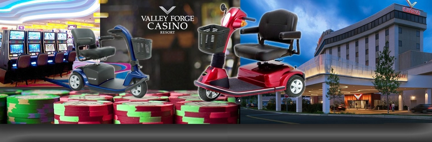 Valley Forge Casino mobility on wheels banner
