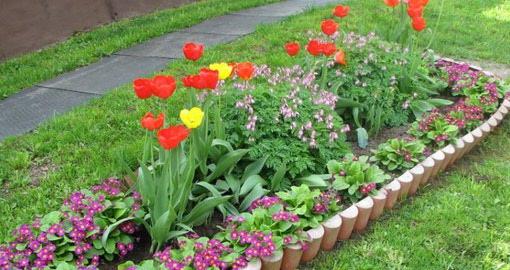 Регулярная цветочная клумба в саду Идеи для сада 13