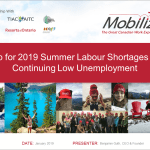 Prep for 2019 Summer Labour Shortages with Continuing Low Unemployment