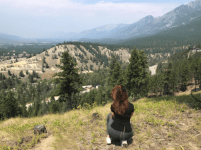 Mobilizer taking in a stunning view of Radium Hot Springs, British Columbia.