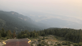 Stunning view during a hike in Radium Hot Springs, British Columbia.