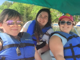 Mobilizers enjoying a day off from their tourism jobs in Muskoka, Ontario.
